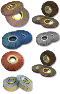 Indented aluminum oxide unmounted flap wheels LS309X